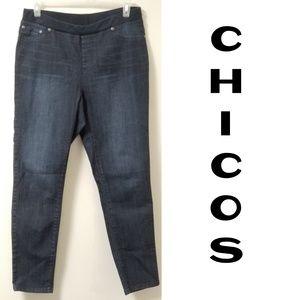 Chico's Platinum Comfort Waist Jeggings Size 12